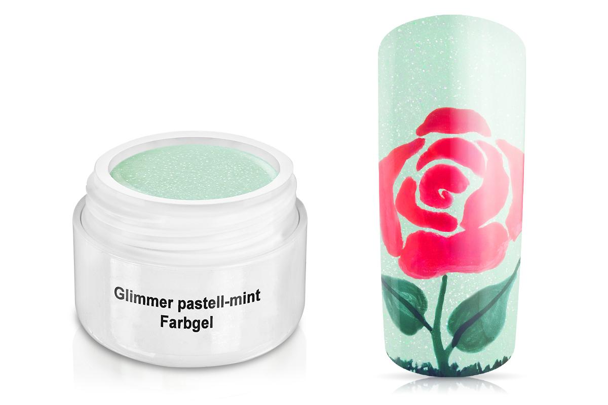 Farbgel Glimmer pastell-mint 5ml