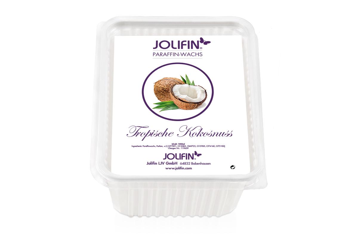 Jolifin Paraffin Ersatzblock - Tropische Kokosnuss 1L
