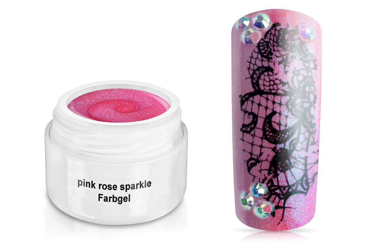 Farbgel pink rose sparkle 5ml