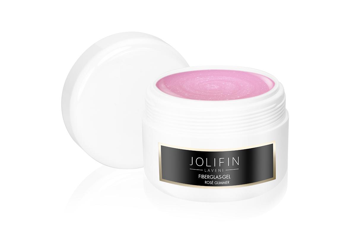 Jolifin LAVENI Fiberglas-Gel rosé Glimmer 250ml