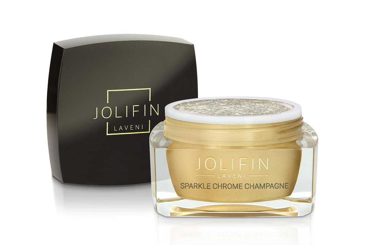 Jolifin LAVENI Farbgel - sparkle chrome champagne 5ml