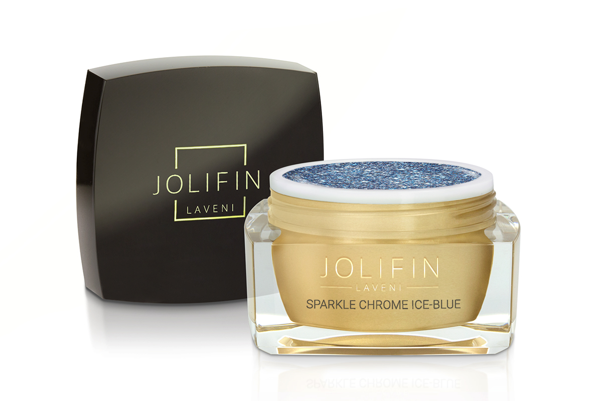 Jolifin LAVENI Farbgel - sparkle chrome ice-blue 5ml