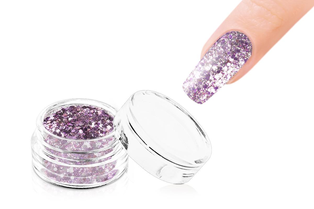Jolifin LAVENI Glitterpuder Silver Glam - rosy