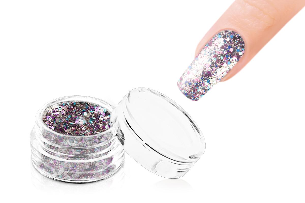 Jolifin LAVENI Glitterpuder Silver Glam - rosy-blue