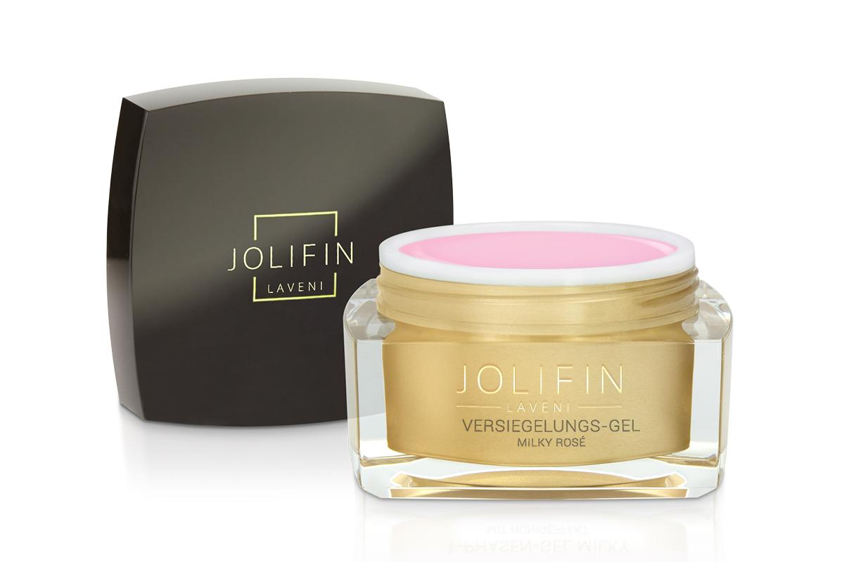 Jolifin LAVENI - Versiegelungs-Gel milky rosé 30ml