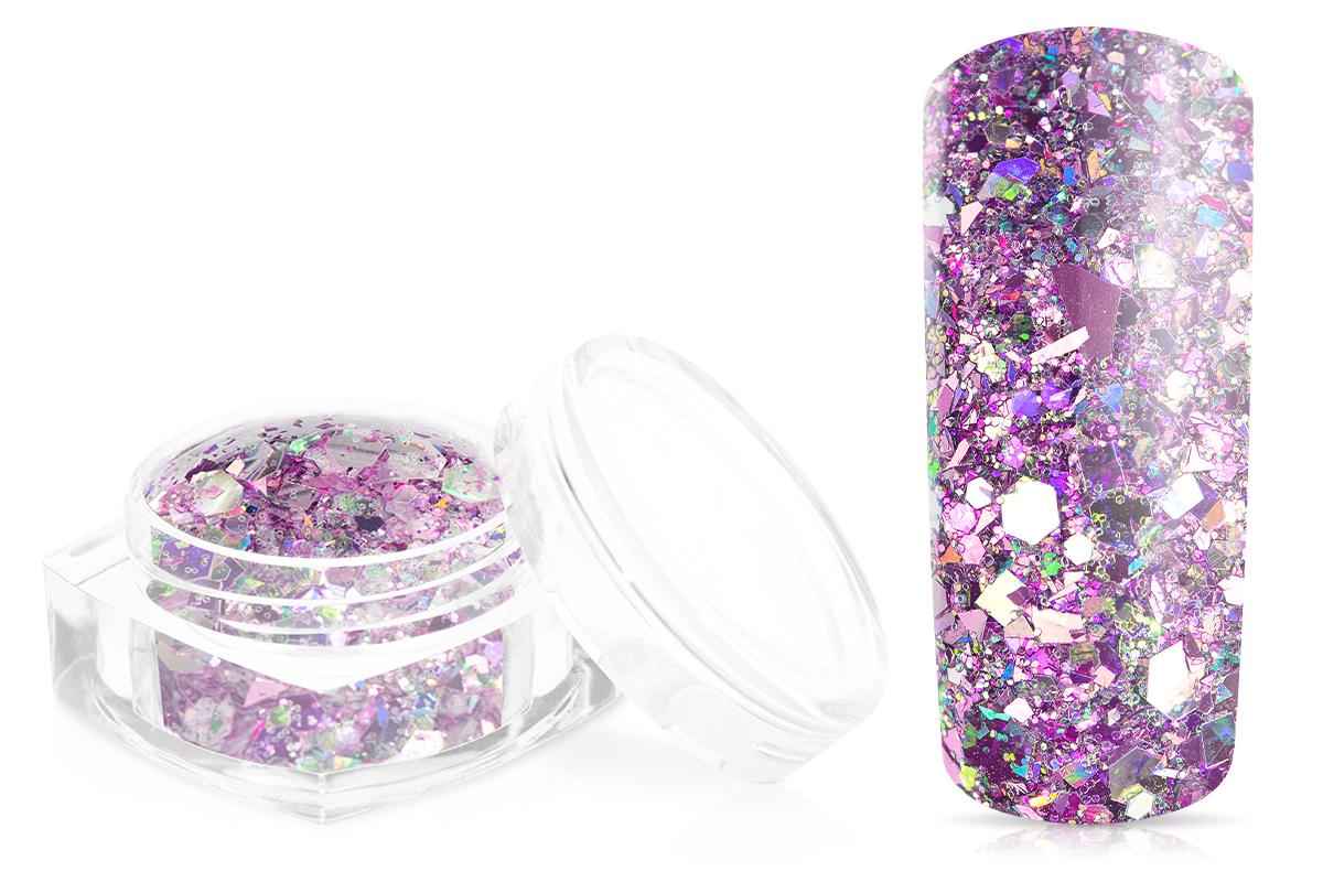 Jolifin Hexagon Glittermix silver-rose