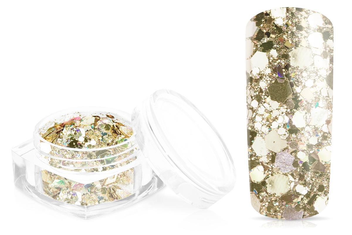 Jolifin Hexagon Glittermix luxury champagne