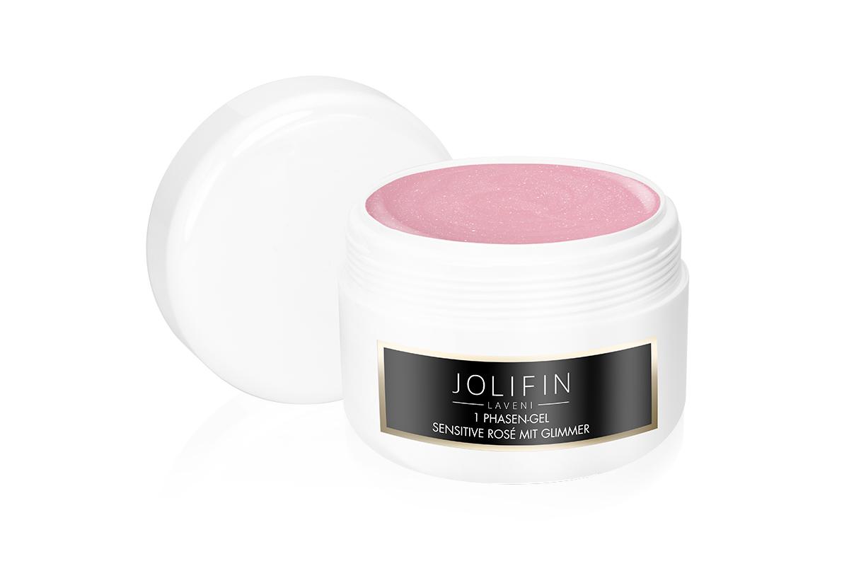 Jolifin LAVENI Refill - 1Phasen-Gel sensitive rosé mit Glimmer 250ml