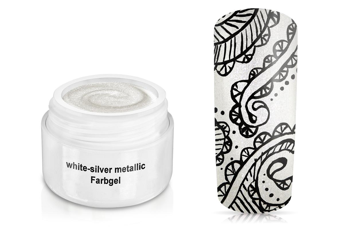 Farbgel white-silver metallic 5ml