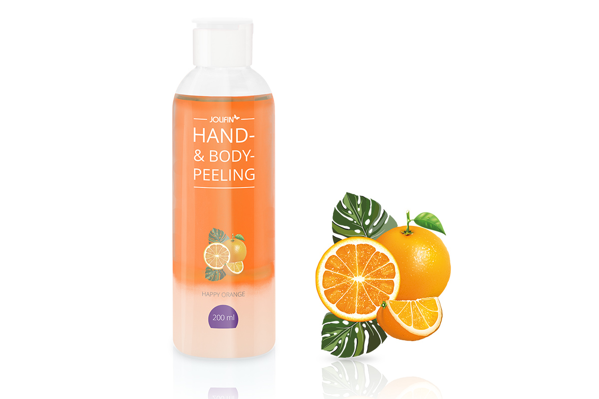 Jolifin Hand- & Bodypeeling - happy orange 200ml