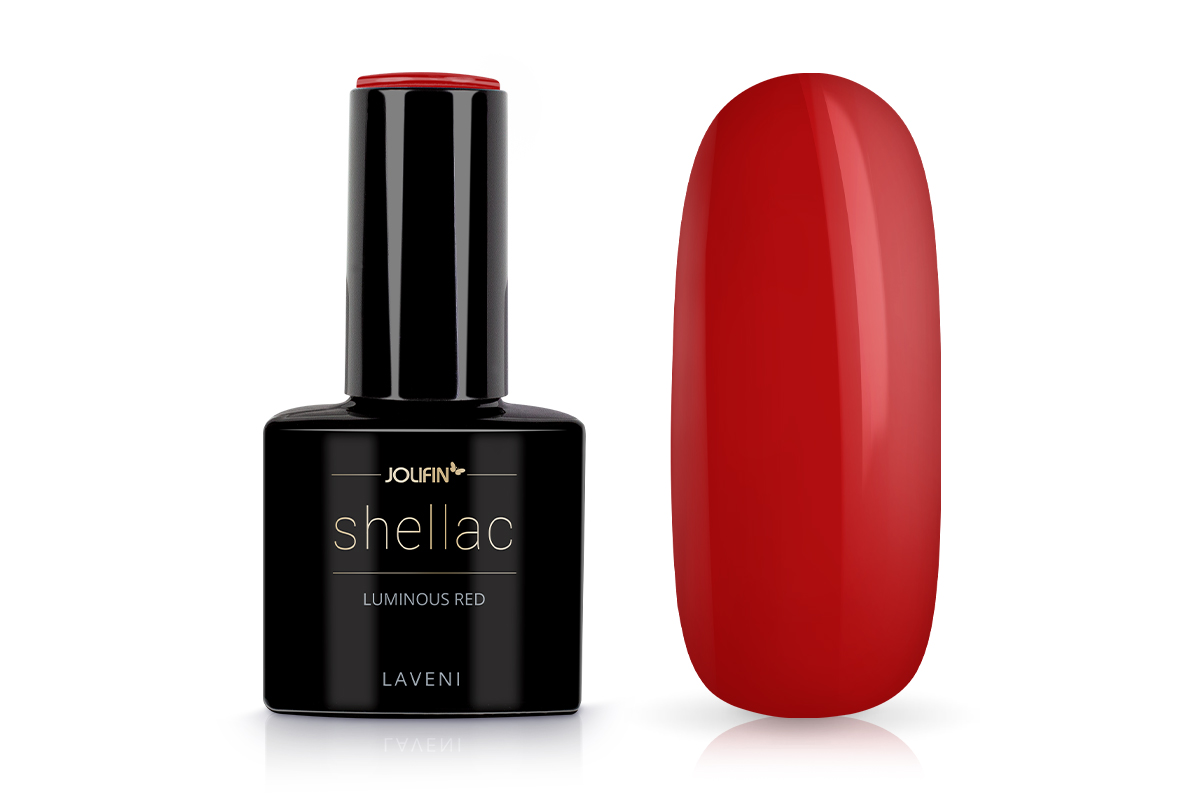 Jolifin LAVENI Shellac - luminous red 12ml