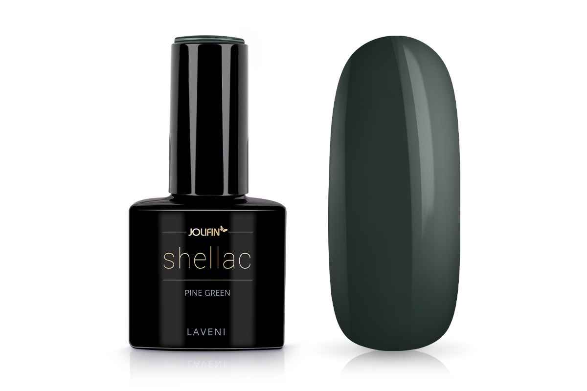 Jolifin LAVENI Shellac - pine green 12ml