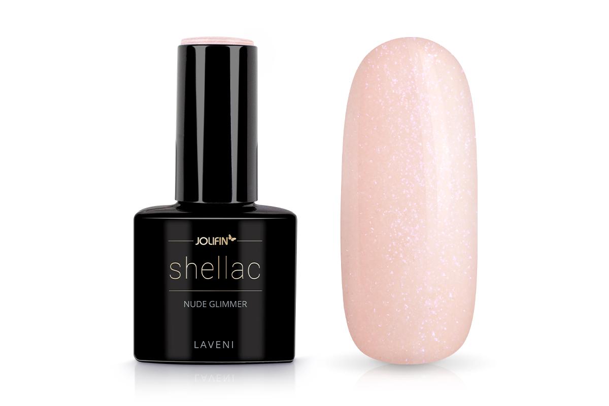 Jolifin LAVENI Shellac - nude Glimmer 12ml