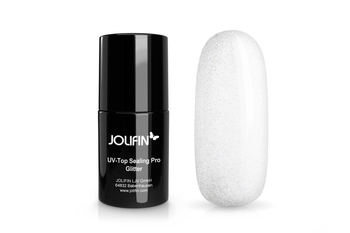 Jolifin UV Top Sealing Pro (ohne Schwitzschicht) - Glitter 14ml