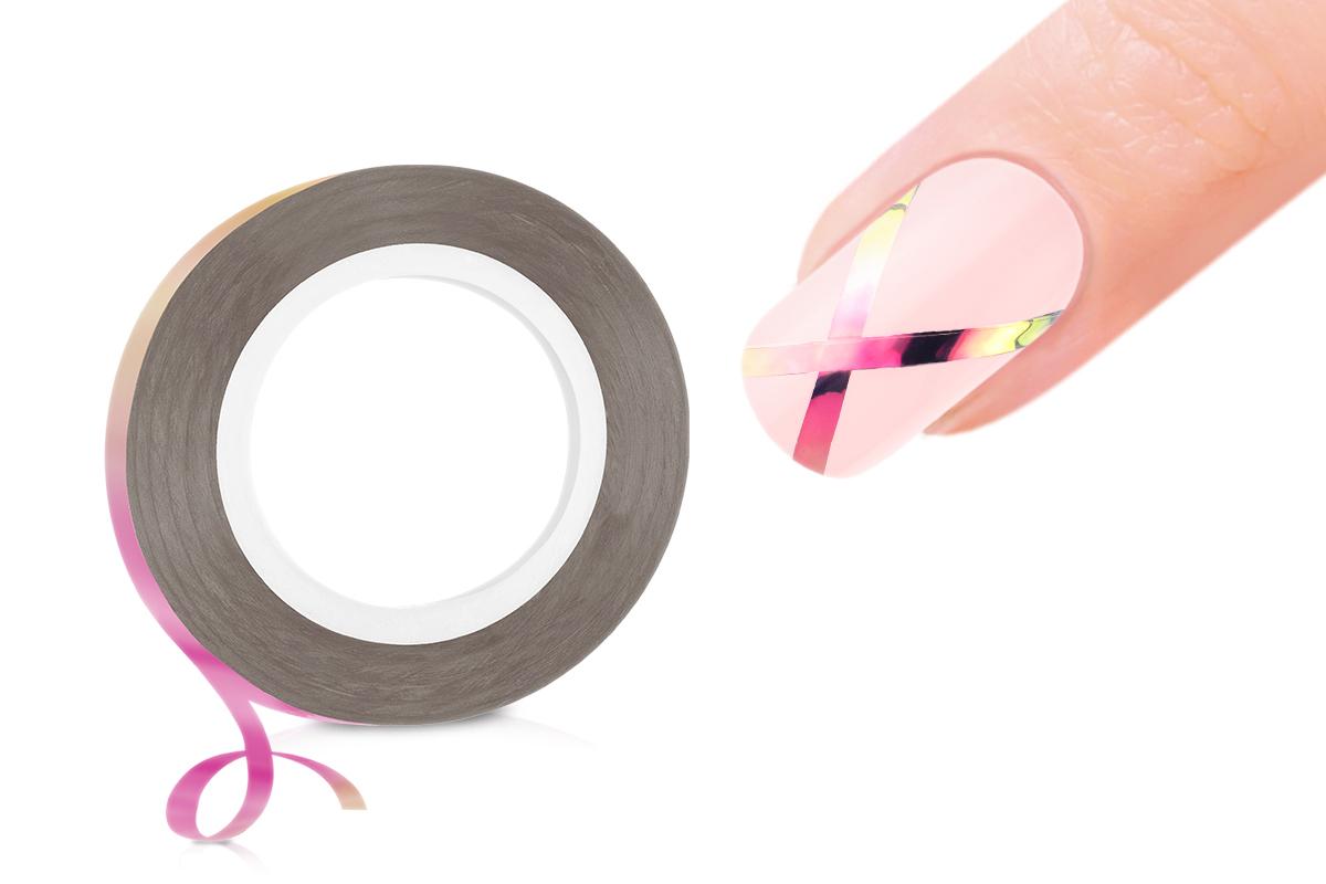 Jolifin Pinstripes FlipFlop pink & gold - 2mm