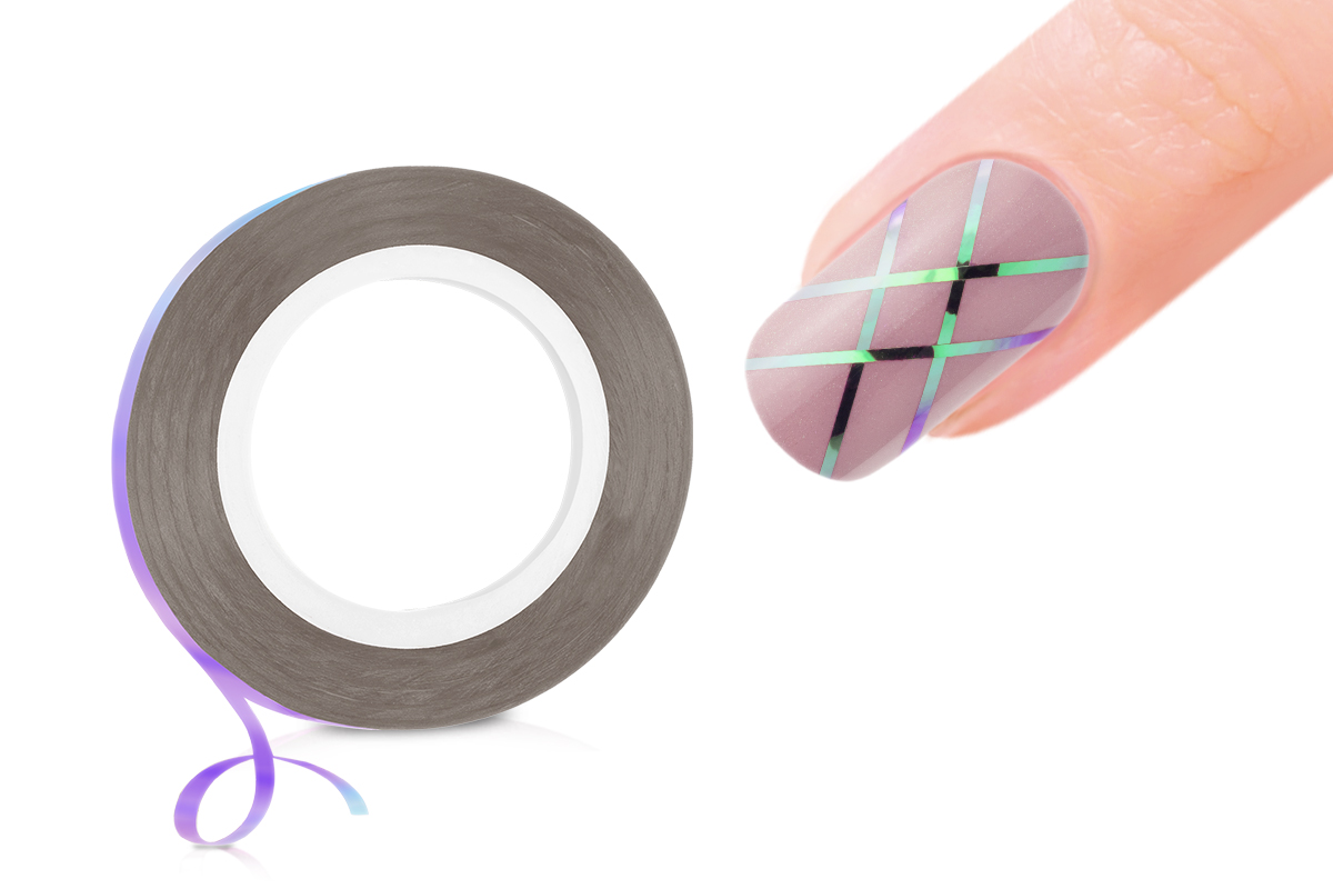 Jolifin Pinstripes FlipFlop violet & mint - 1mm
