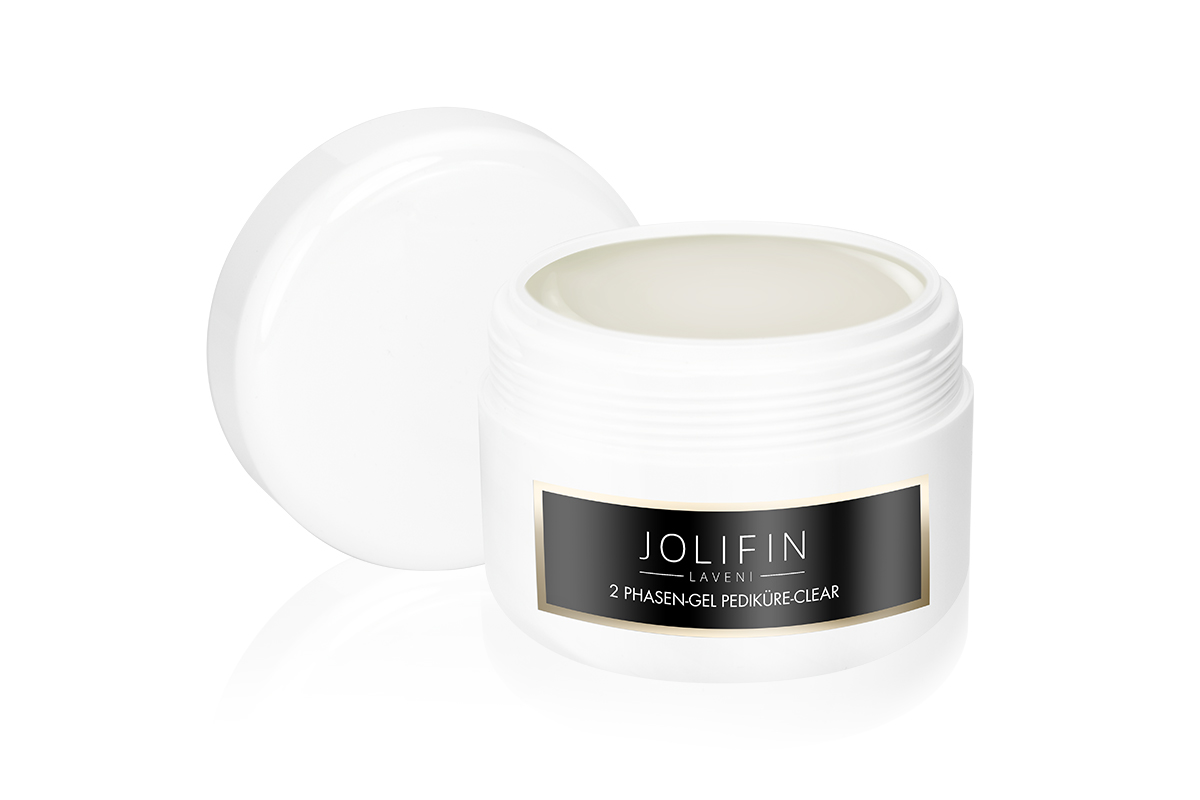 Jolifin LAVENI 2 Phasen-Gel Pediküre - clear 250ml