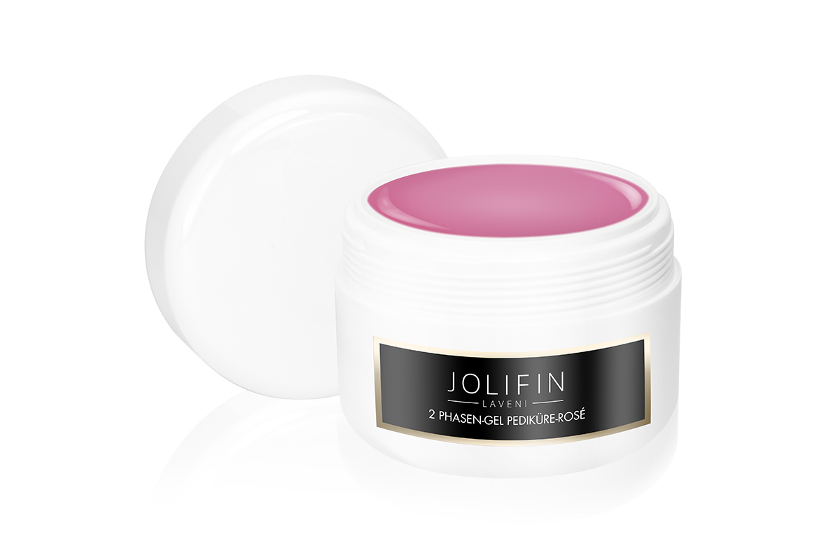 Jolifin LAVENI 2 Phasen-Gel Pediküre - rosé 250ml
