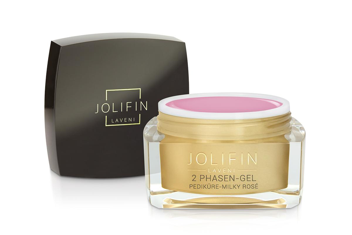 Jolifin LAVENI - 2Phasen-Gel Pediküre milky rosé 30ml