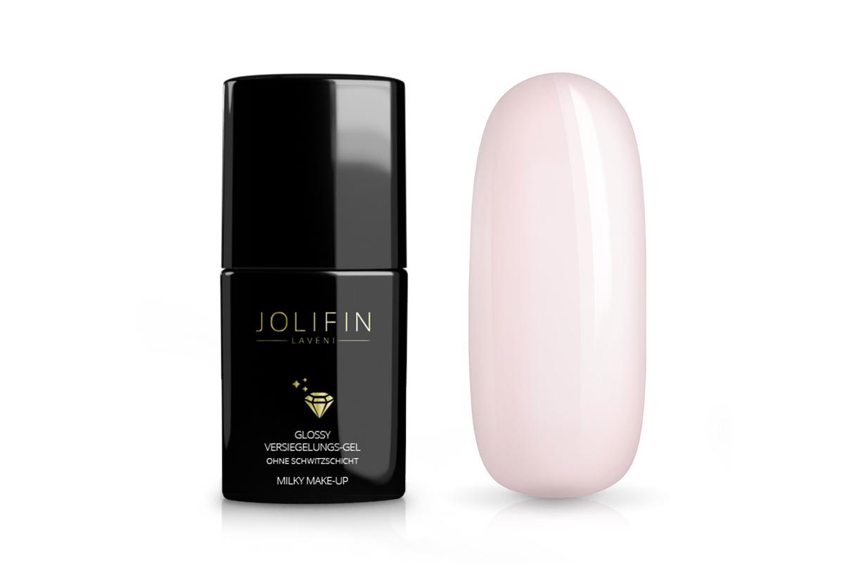 Jolifin LAVENI Glossy Versiegelungs-Gel o. Schwitzschicht - milky make-up 11ml