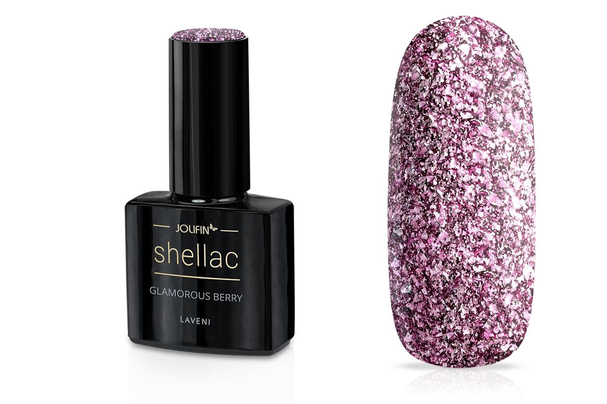Jolifin LAVENI Shellac - glamorous berry 12ml