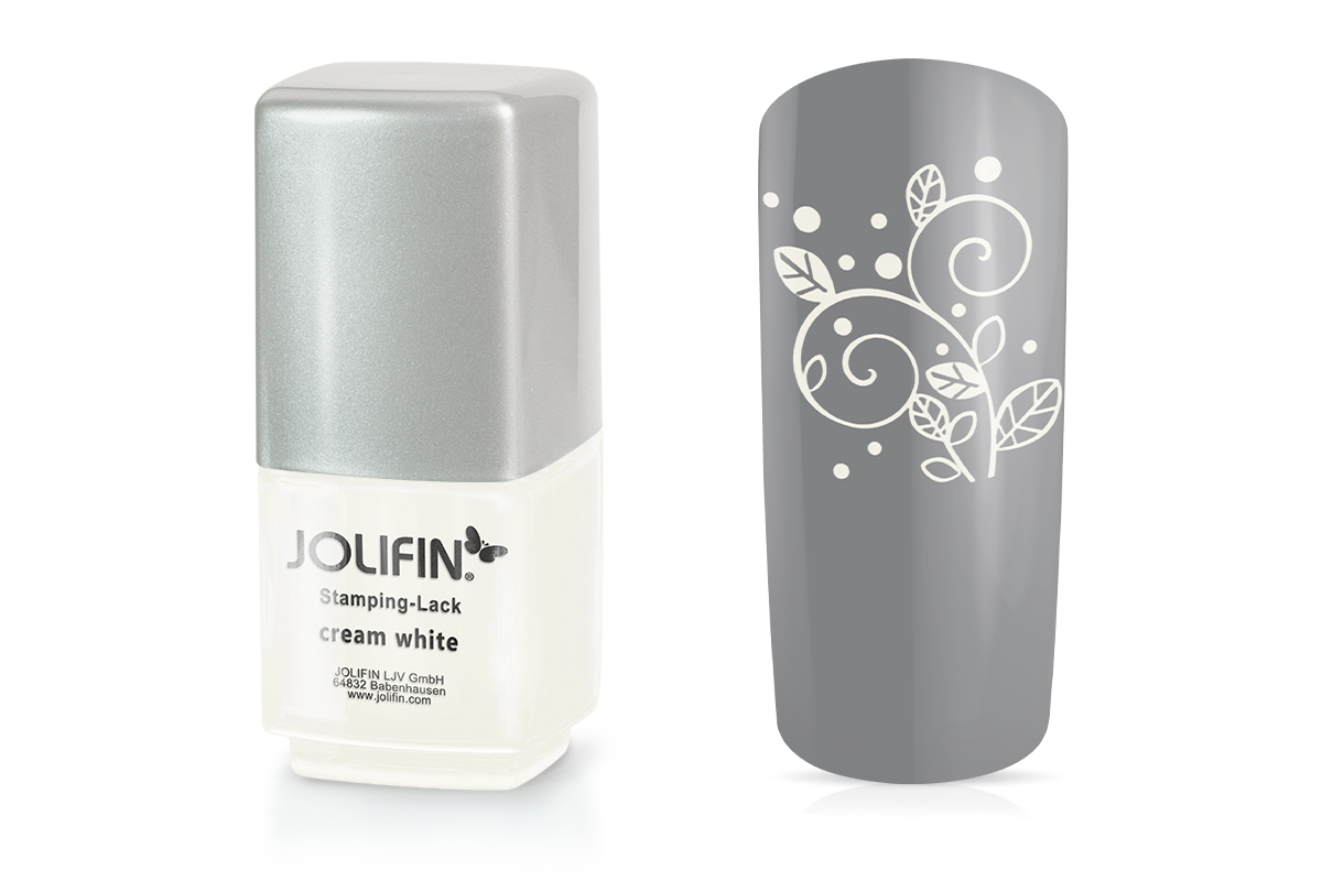 Jolifin Stamping-Lack - cream white 12ml