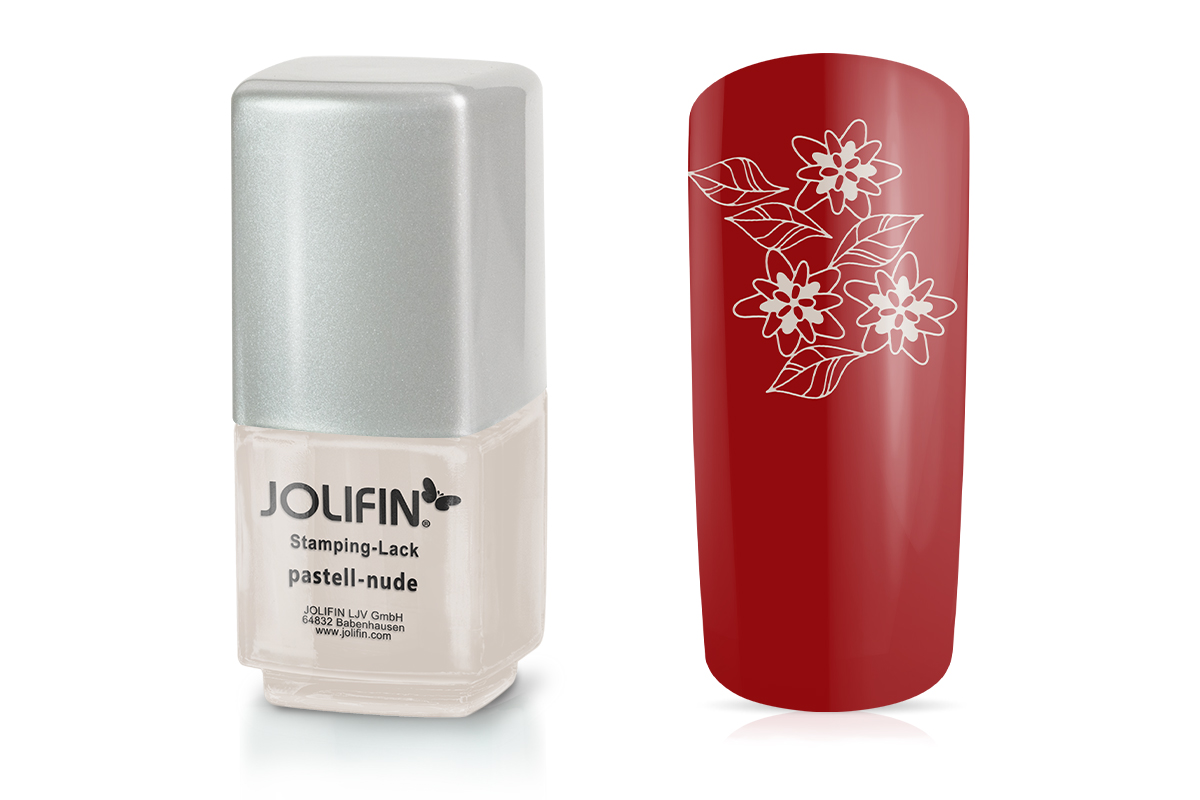 Jolifin Stamping-Lack - pastell-nude 12ml