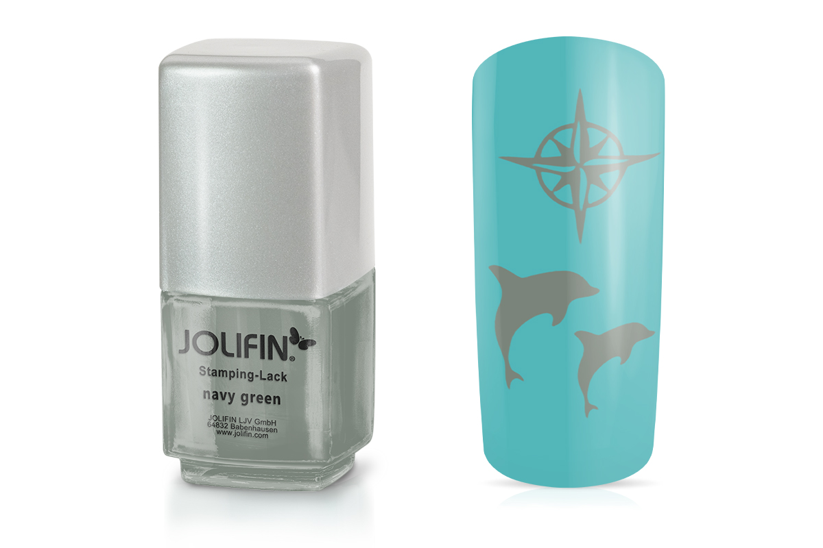 Jolifin Stamping-Lack - navy green 12ml