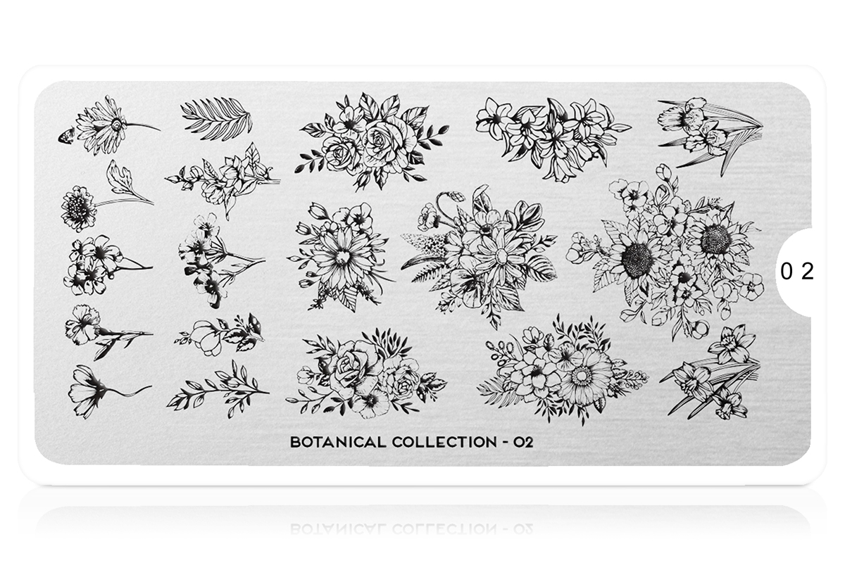 MoYou-London Schablone Botanical Collection 02