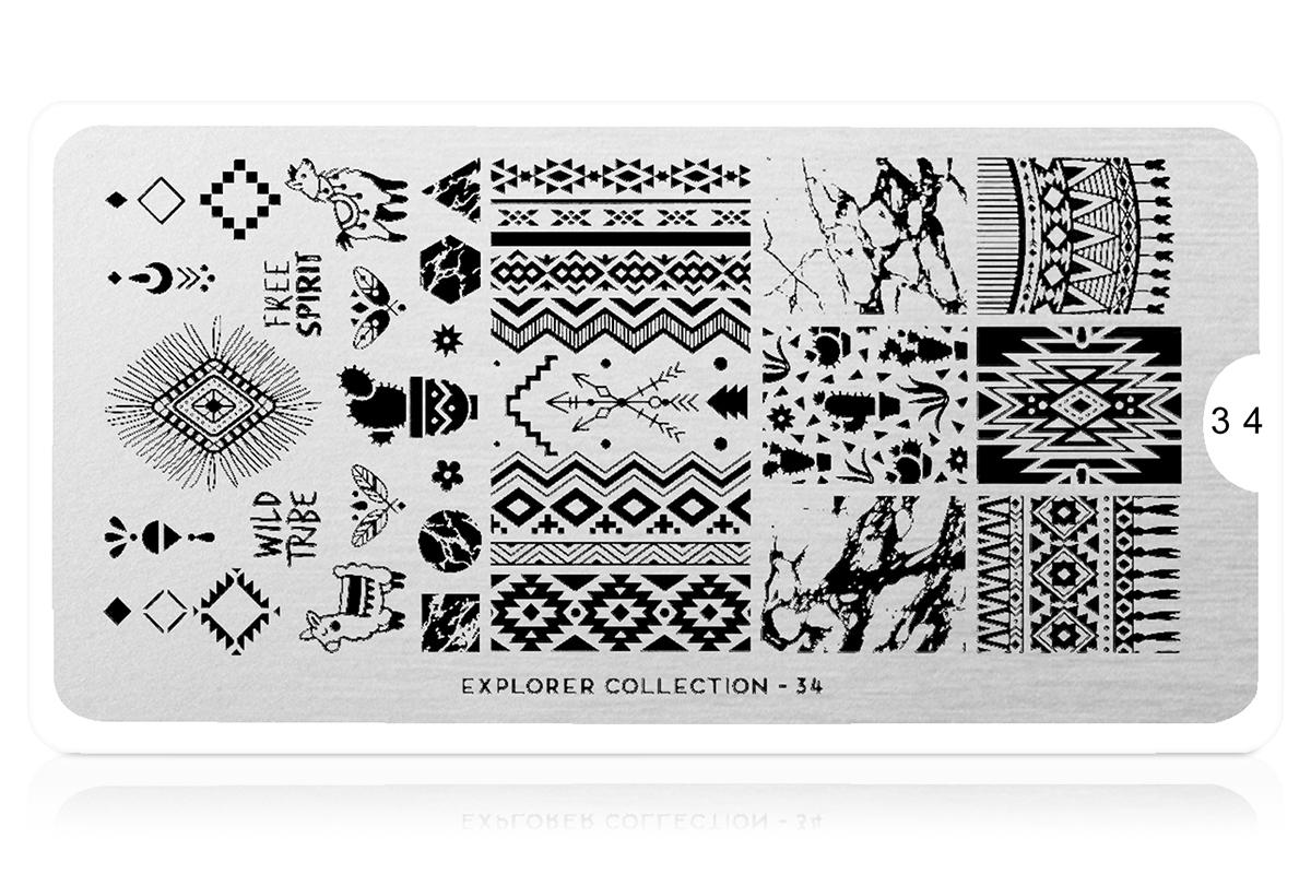 MoYou-London Schablone Explorer Collection 34