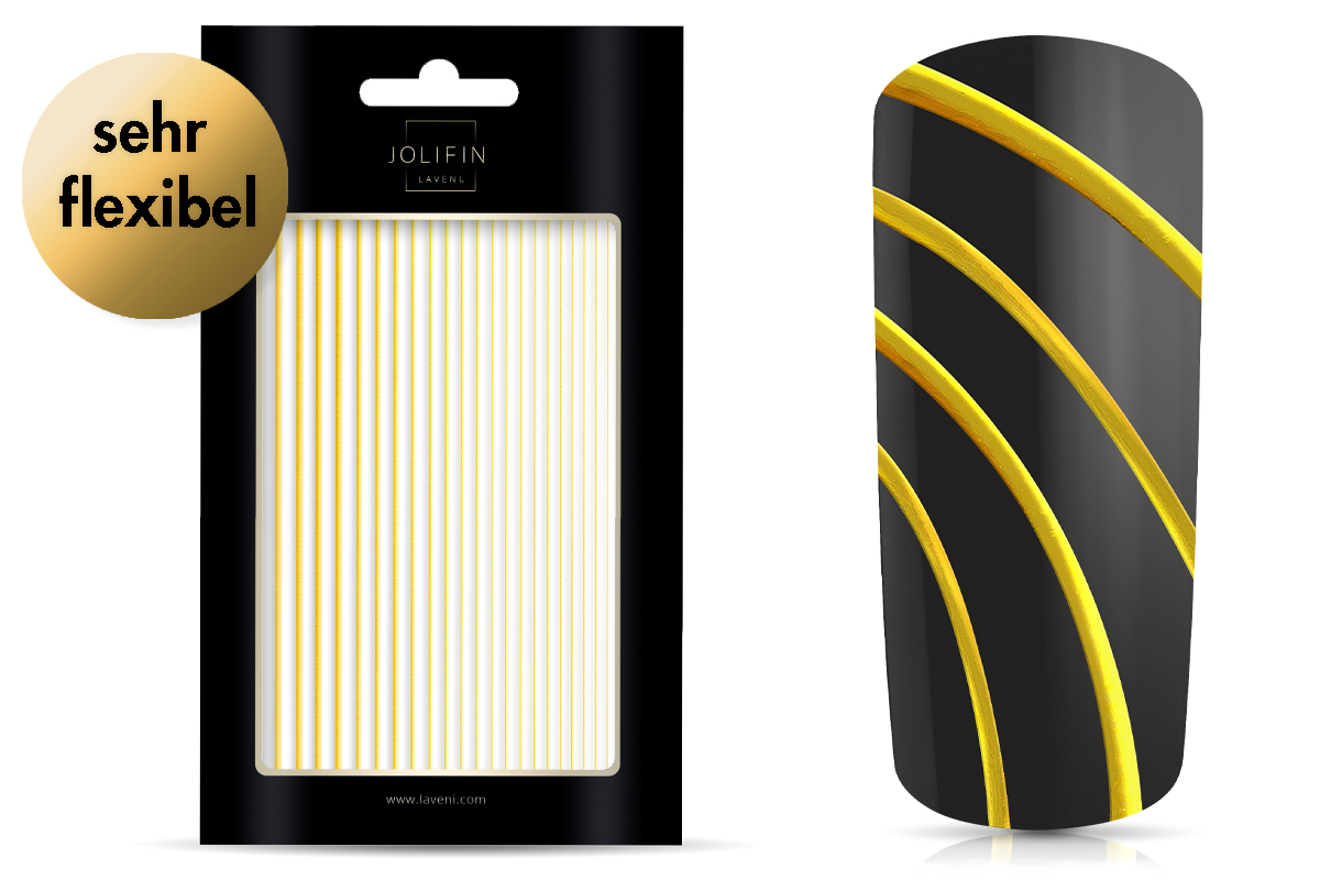 Jolifin LAVENI XL Sticker - Stripes gold