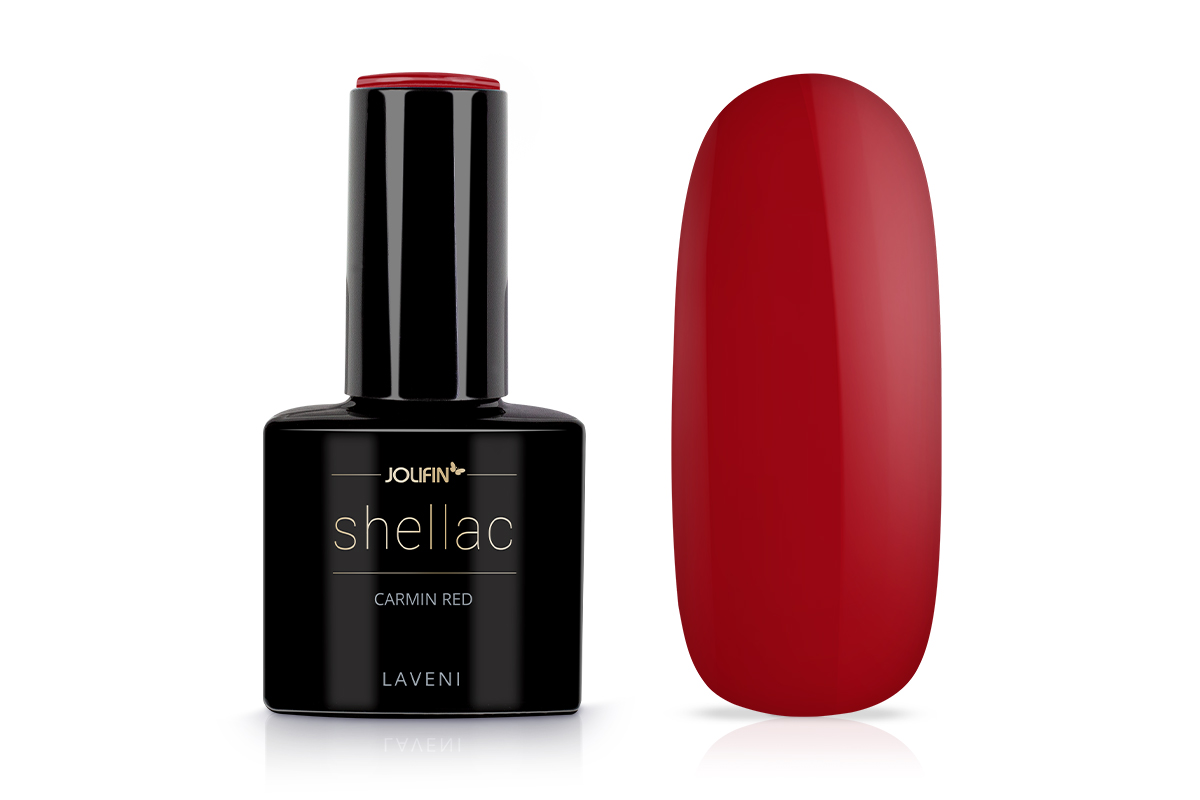 Jolifin LAVENI Shellac - carmin red 12ml