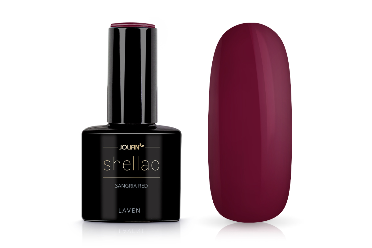 Jolifin LAVENI Shellac - sangria red 12ml