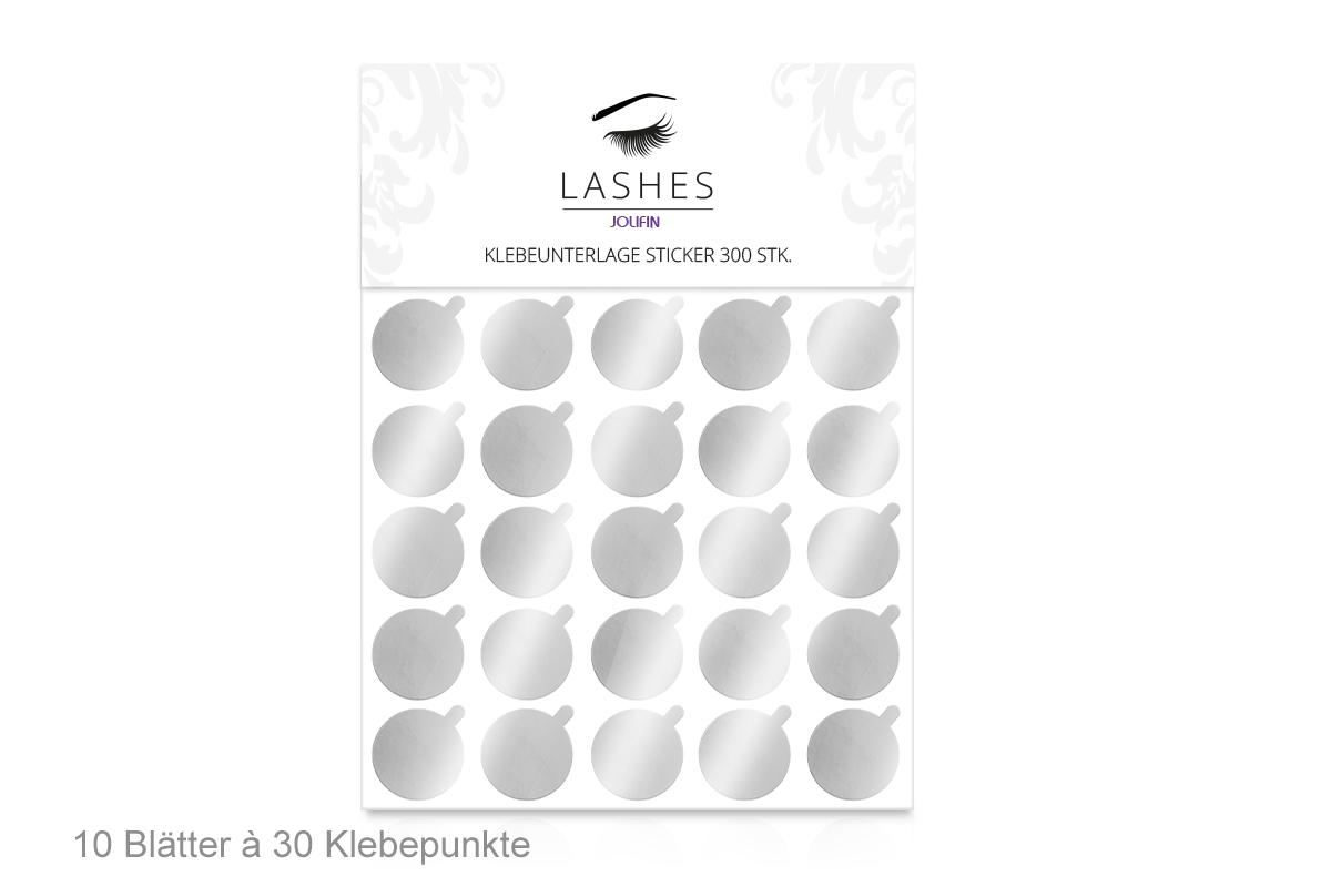 Jolifin Lashes - Klebeunterlage Sticker 300Stk.