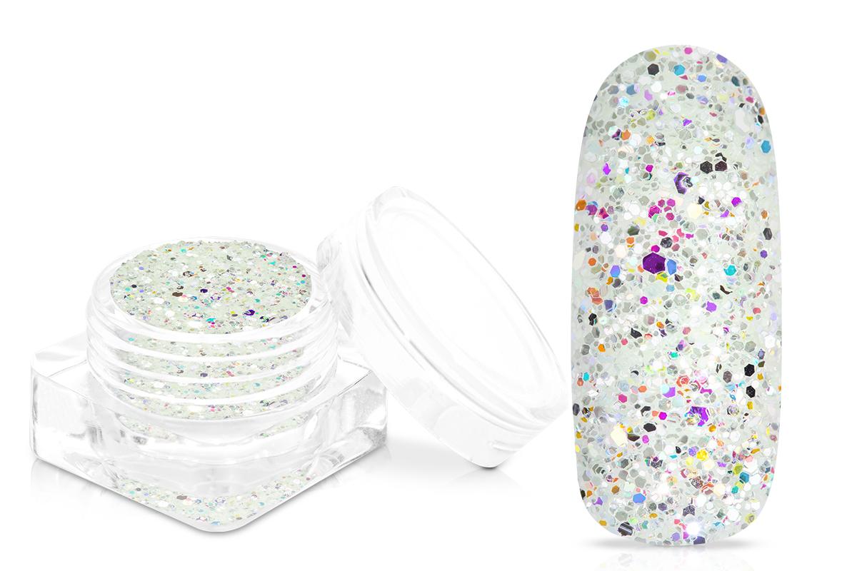 Jolifin Glitterpuder Silvermix - fresh mint