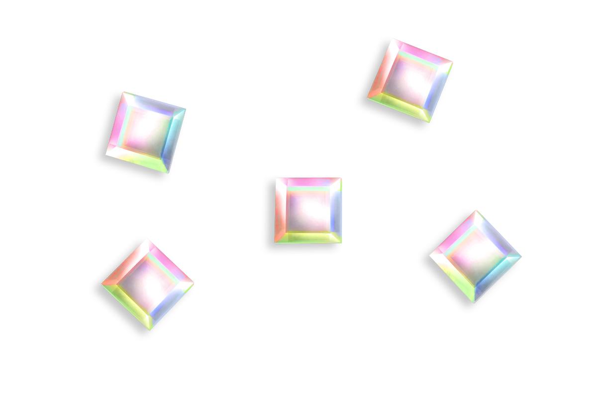 Jolifin LAVENI Strass-Diamond - small square irisierend