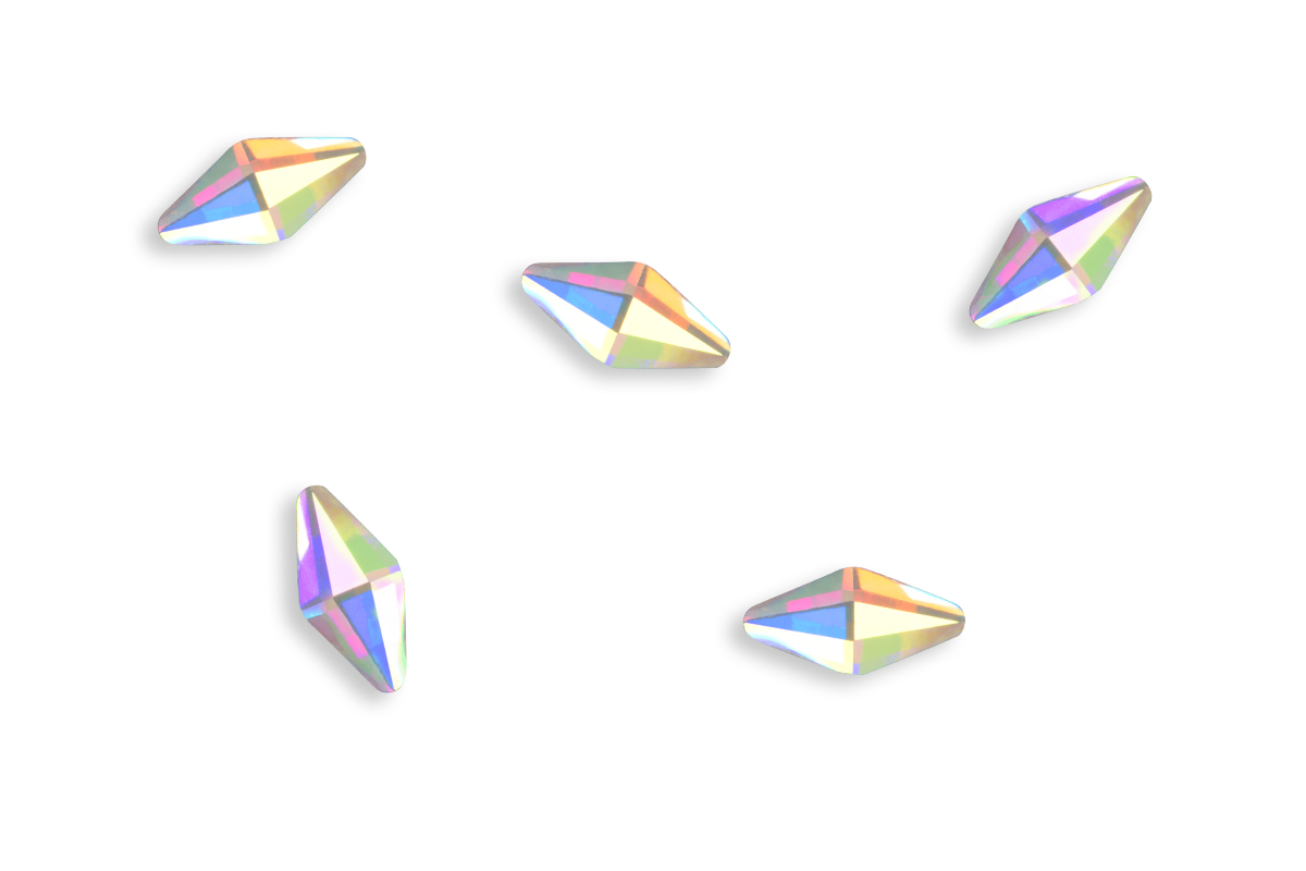 Jolifin LAVENI Strass-Diamond - small rhombus irisierend