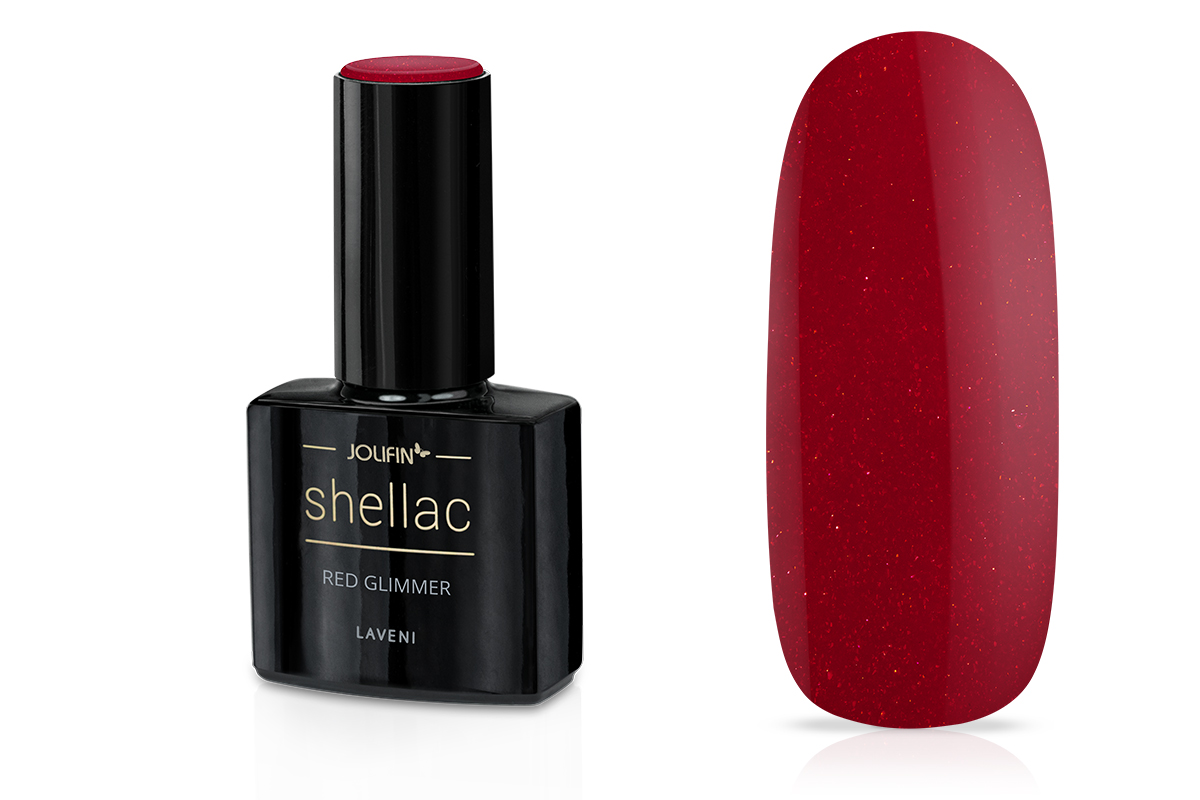 Jolifin LAVENI Shellac - red Glimmer 12ml