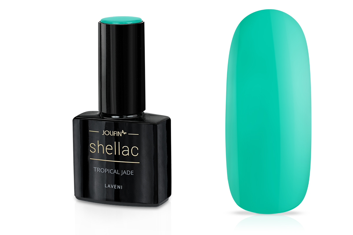Jolifin LAVENI Shellac - tropical jade 12ml