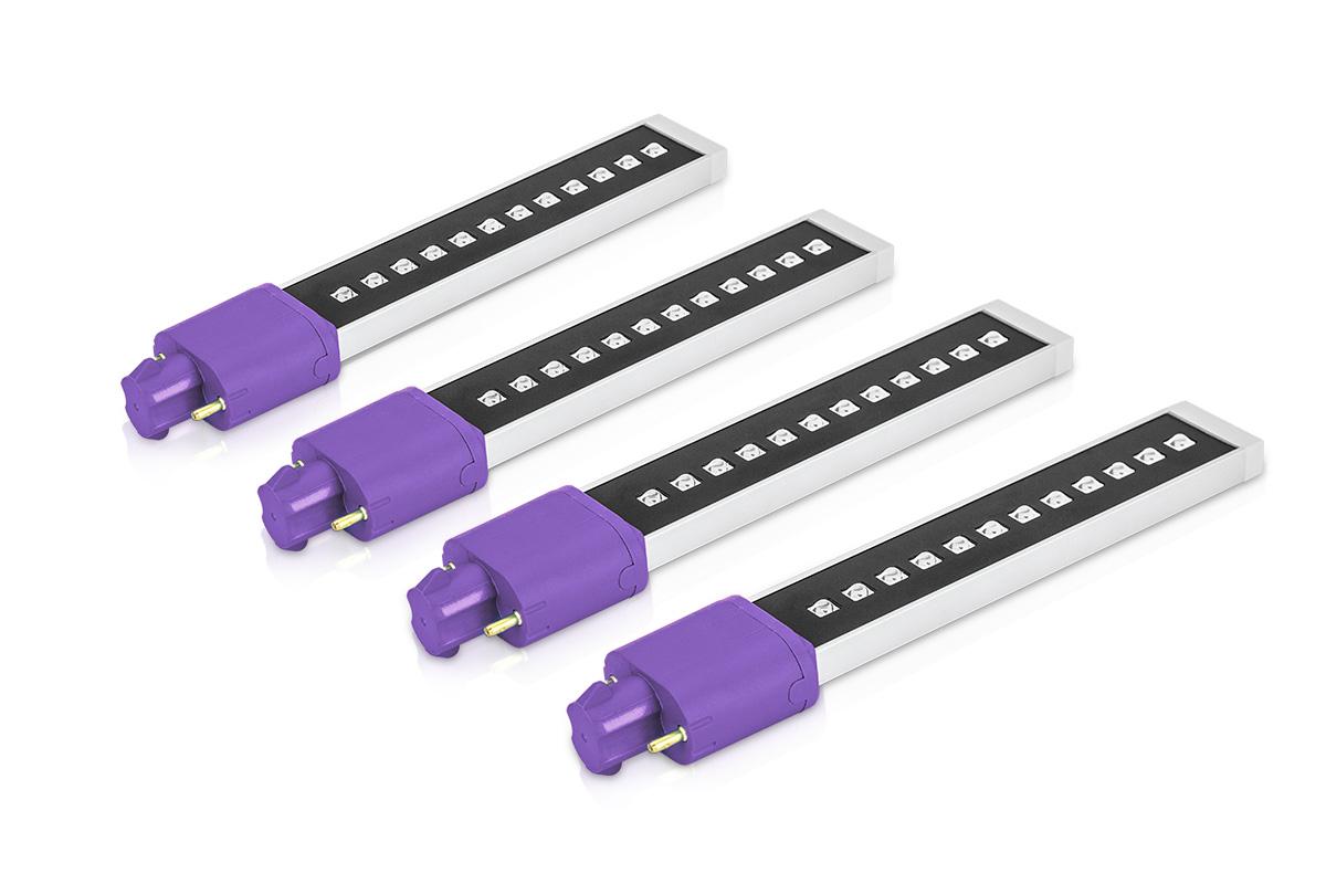 Universal LED-/UV-Röhre 9 Watt 4 Stk.