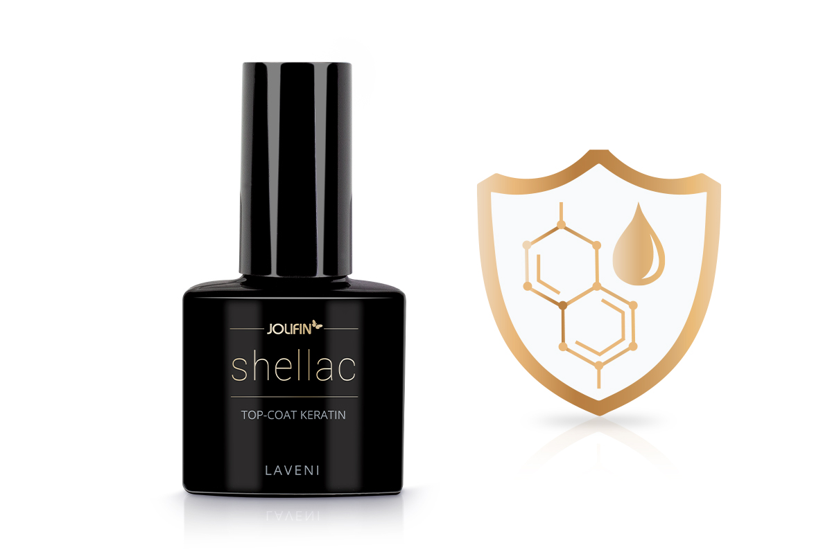 Jolifin LAVENI Shellac - Top-Coat Keratin 12ml