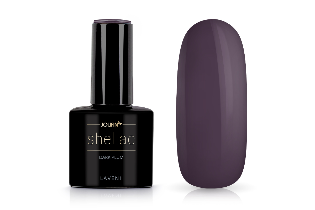 Jolifin LAVENI Shellac - dark plum 12ml