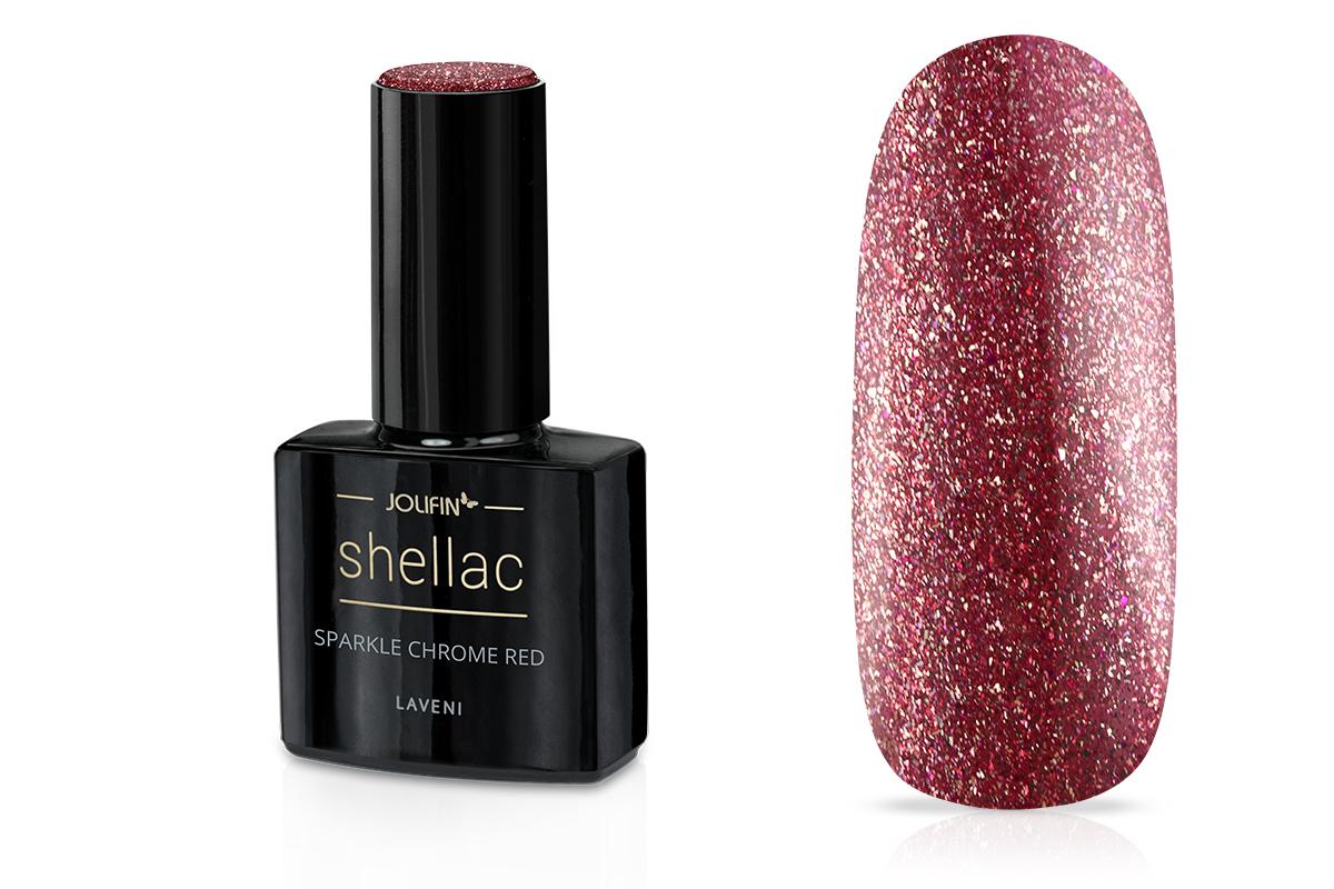 Jolifin LAVENI Shellac - sparkle chrome red 12ml