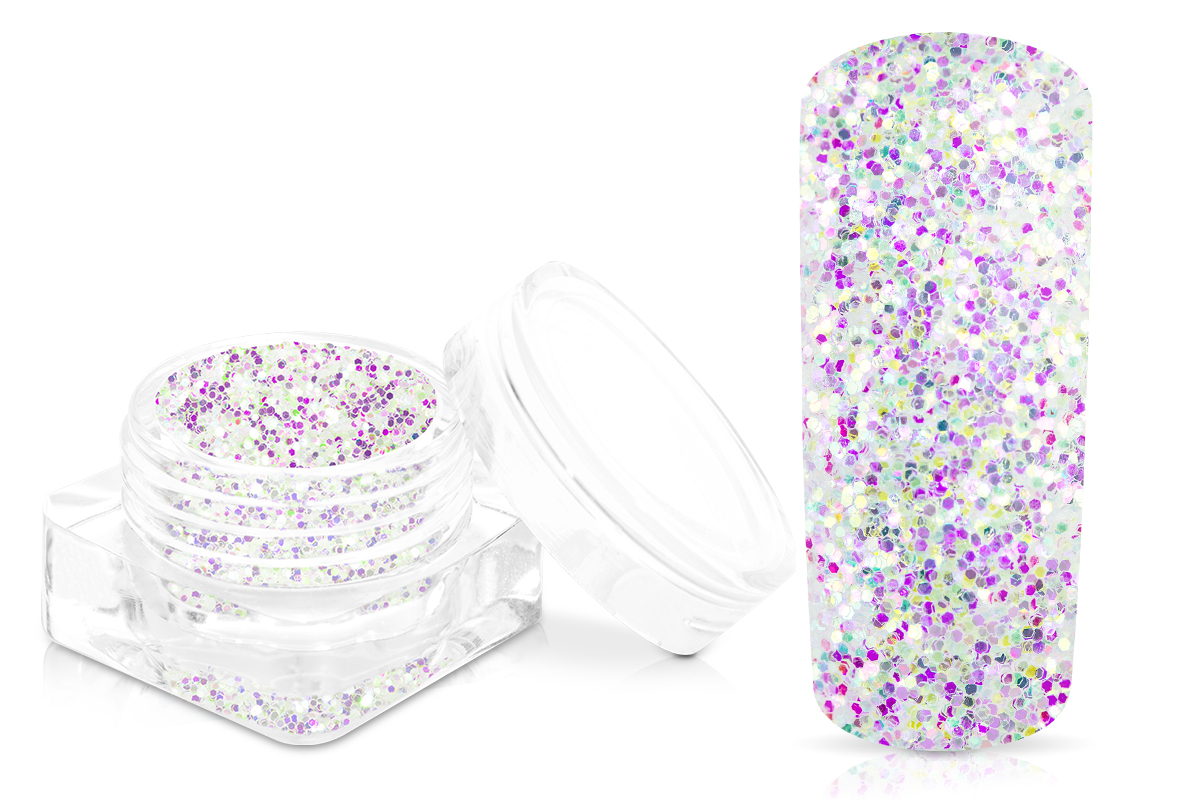 Jolifin White Mermaid Glitter - pink-purple
