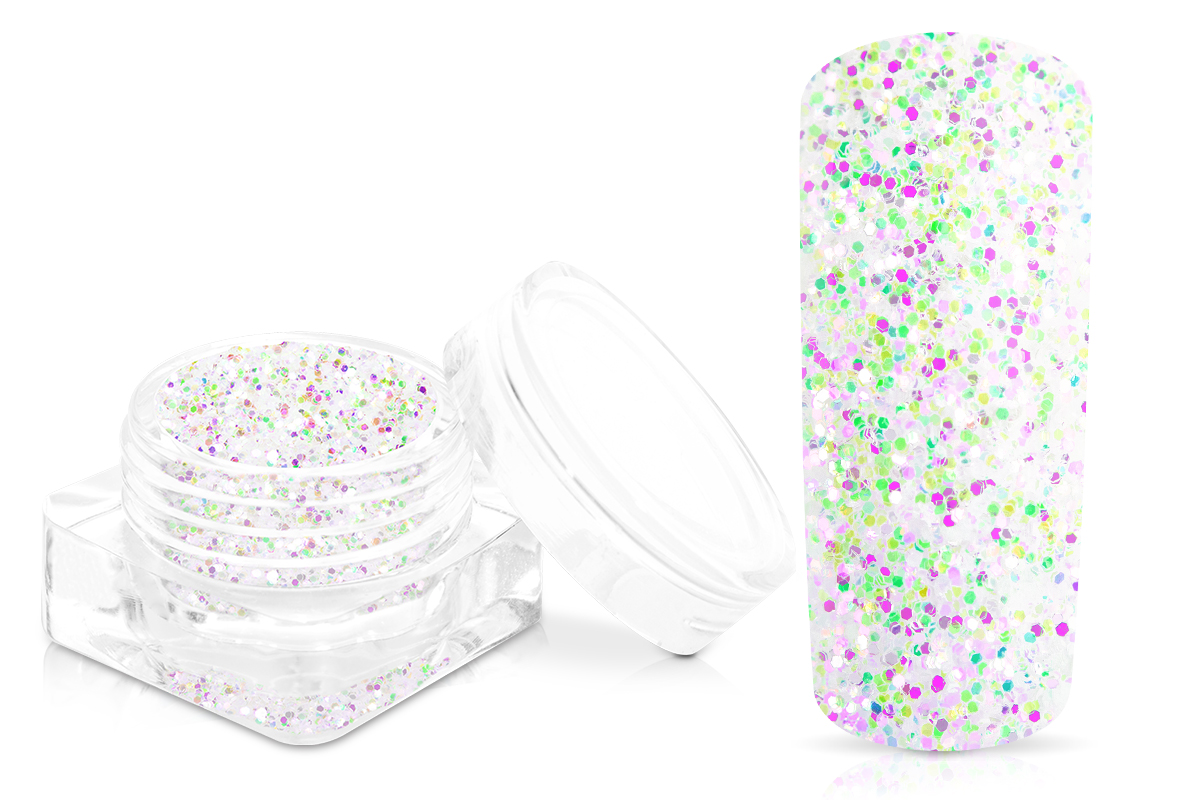 Jolifin White Mermaid Glitter - pink-green