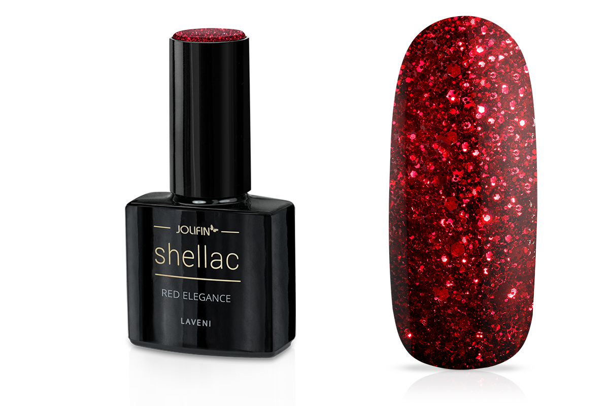 Jolifin LAVENI Shellac - red elegance 12ml