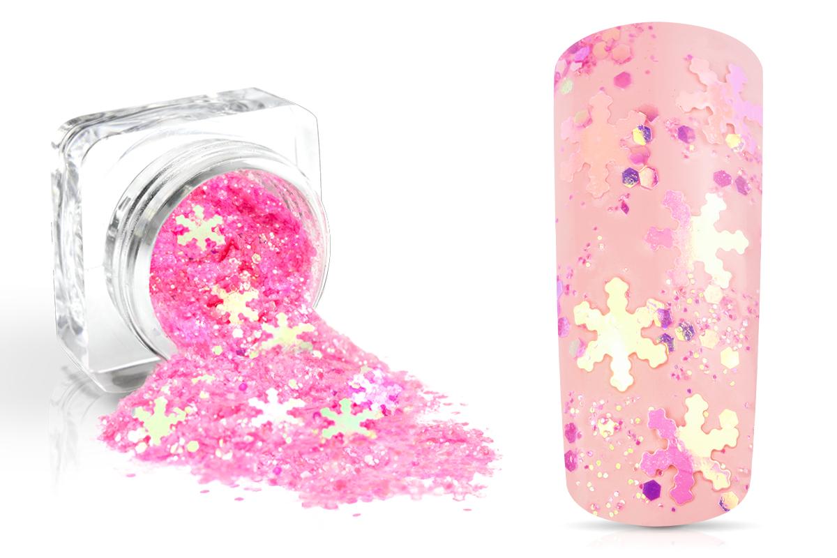 Jolifin Snowflake Glitter - pink