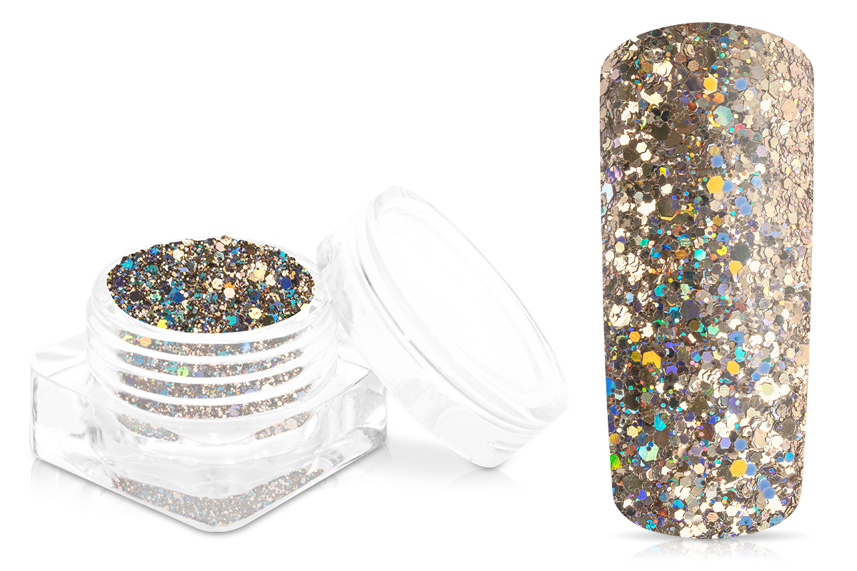 Jolifin Disco Ball Glitter - champagne