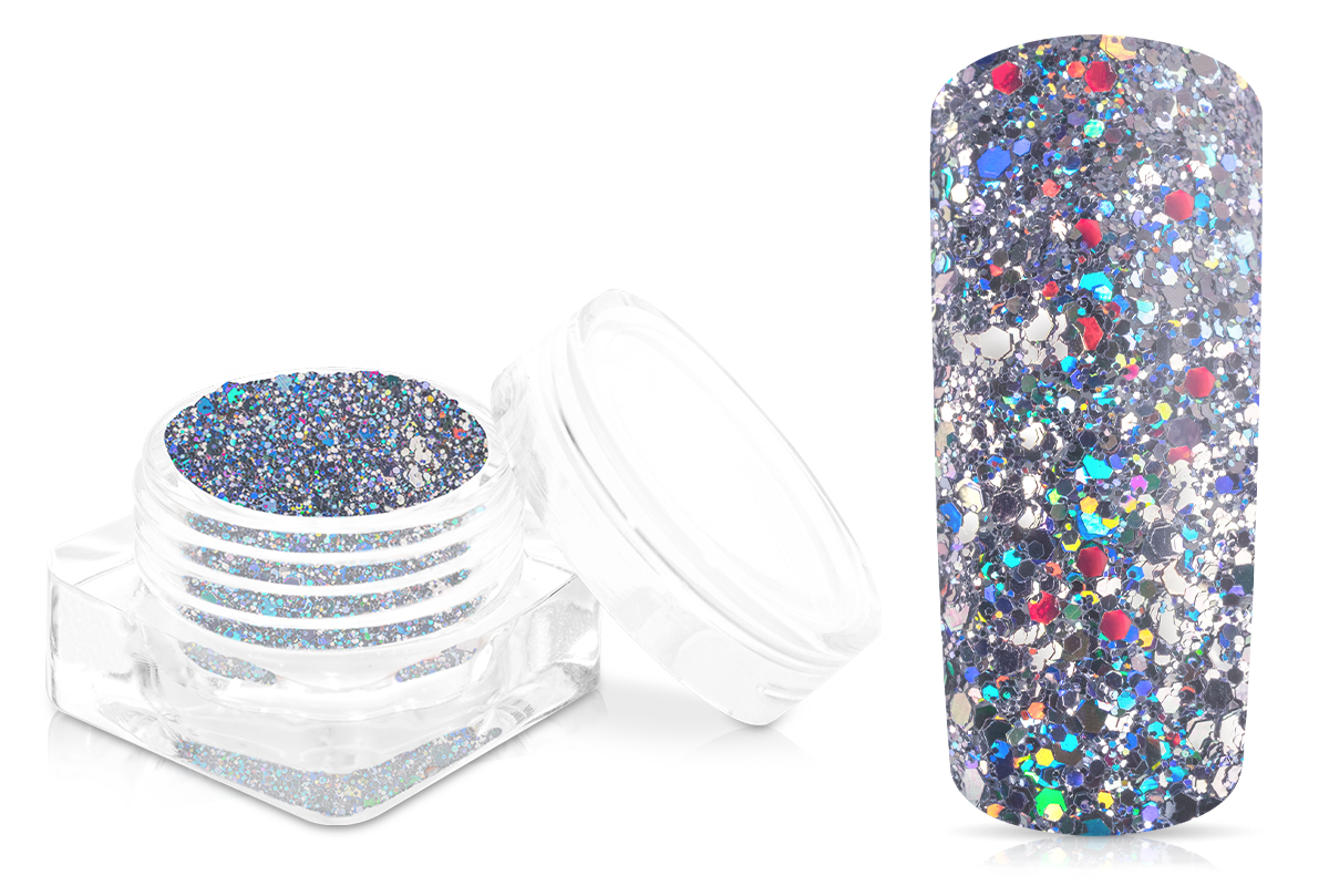 Jolifin Disco Ball Glitter - silver