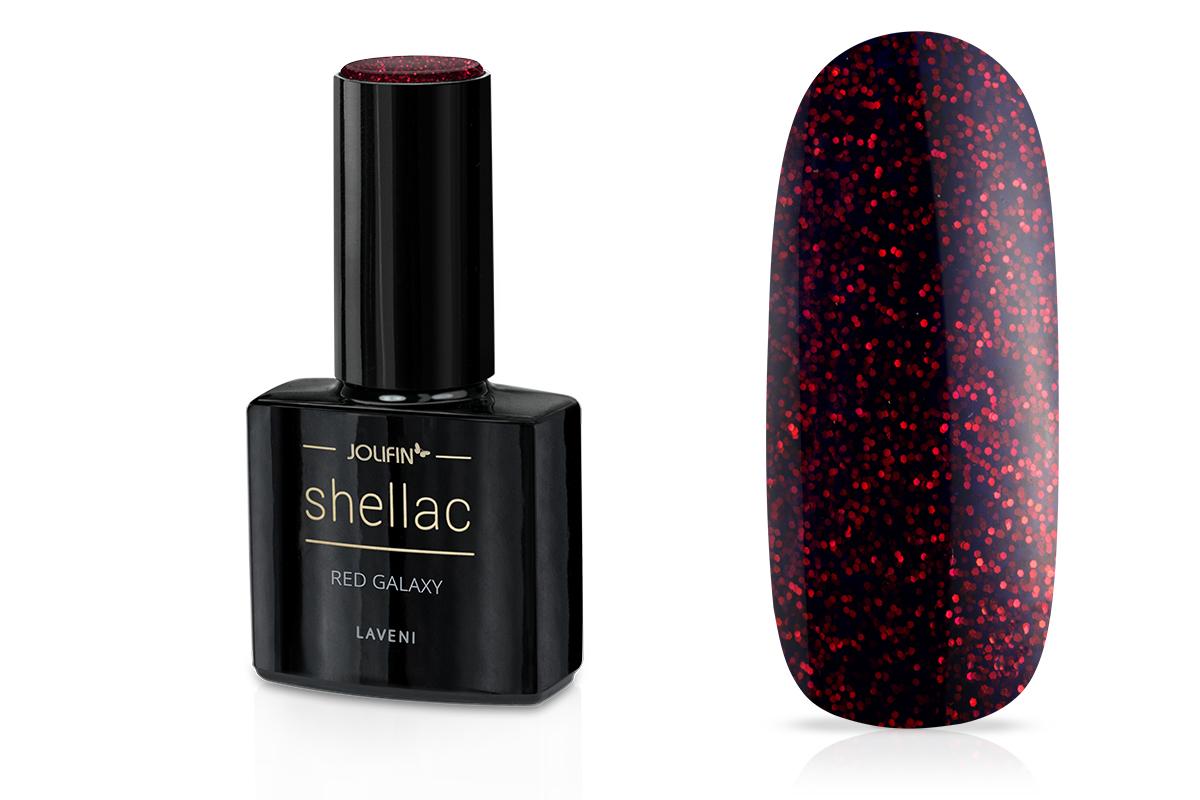 Jolifin LAVENI Shellac - red galaxy 12ml